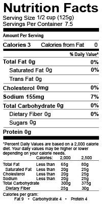 zoup veggie broth nutrition label including calories, low fat, zero carbs and zero sugar