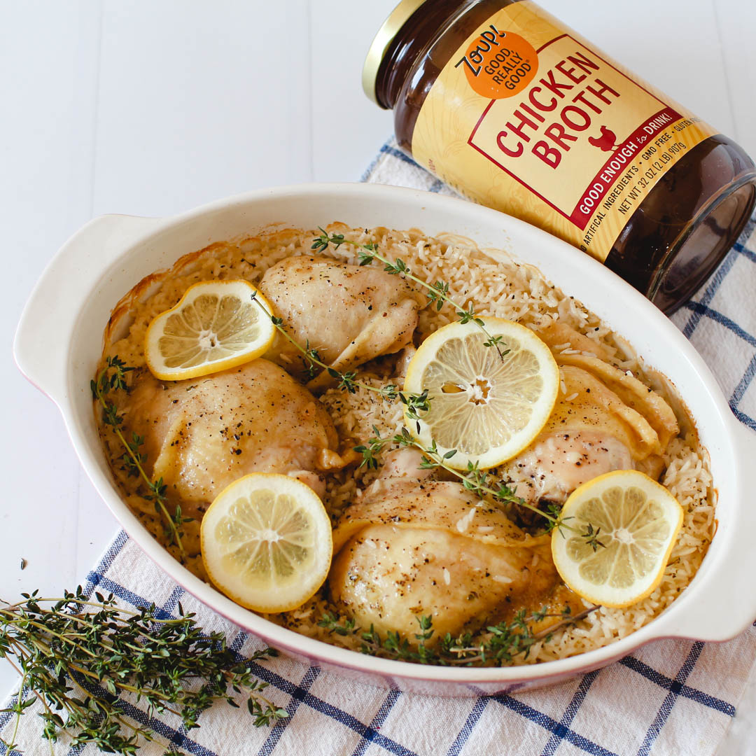 Lemon Chicken & Rice Casserole