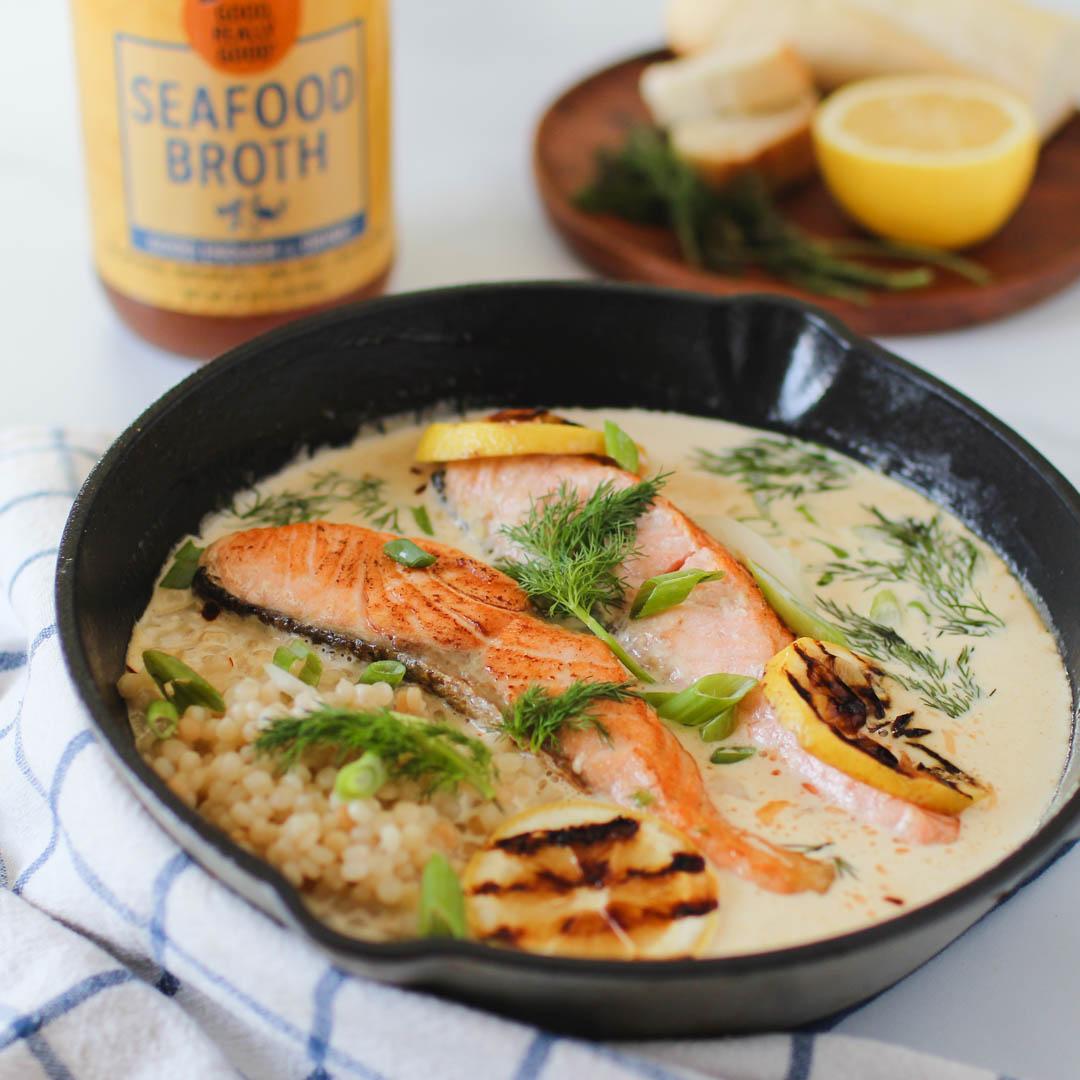 Creamy Parmesan Lemon Salmon
